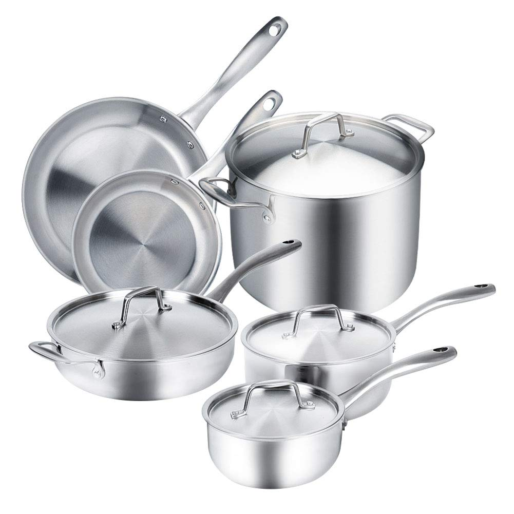 Duxtop whole clad tri ply stainless steel cookware