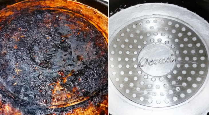 How to clean bottom of pans