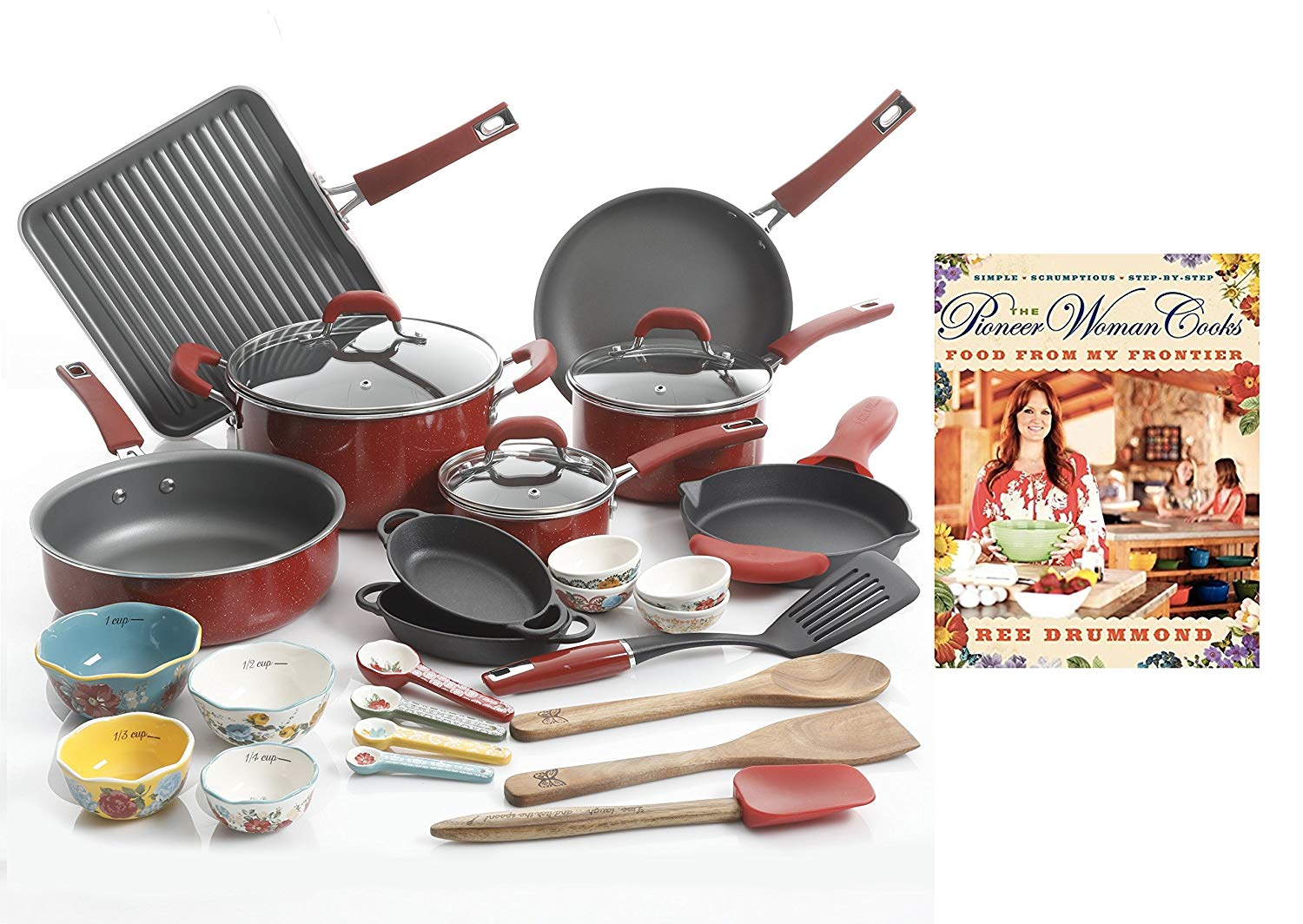 The Pioneer Woman Ultimate Bundle with 30-Piece Cookware Set