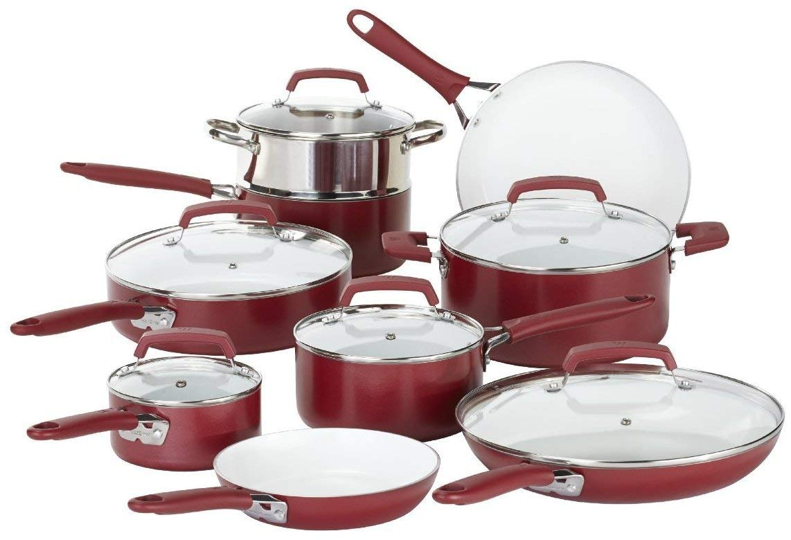 wearever 15 piece ceramic cookware set