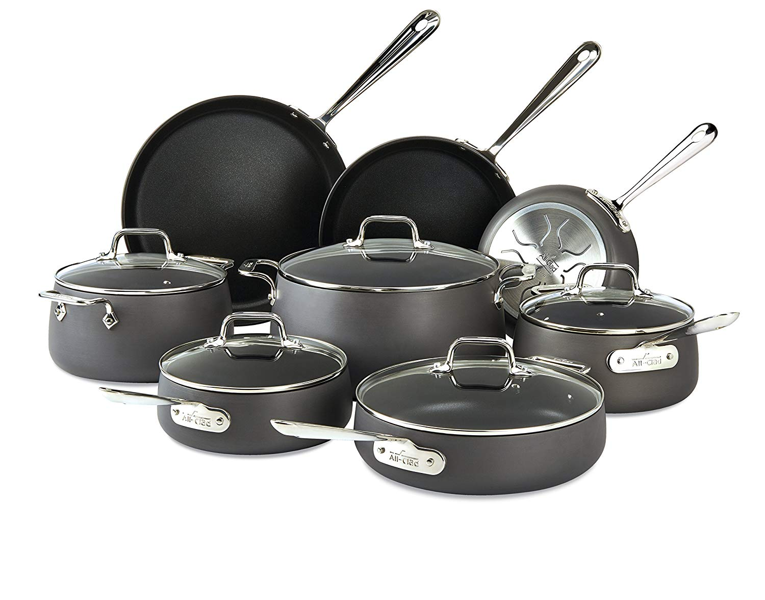 All-Clad E785SB64 HA1 Hard Anodized Nonstick Cookware Set