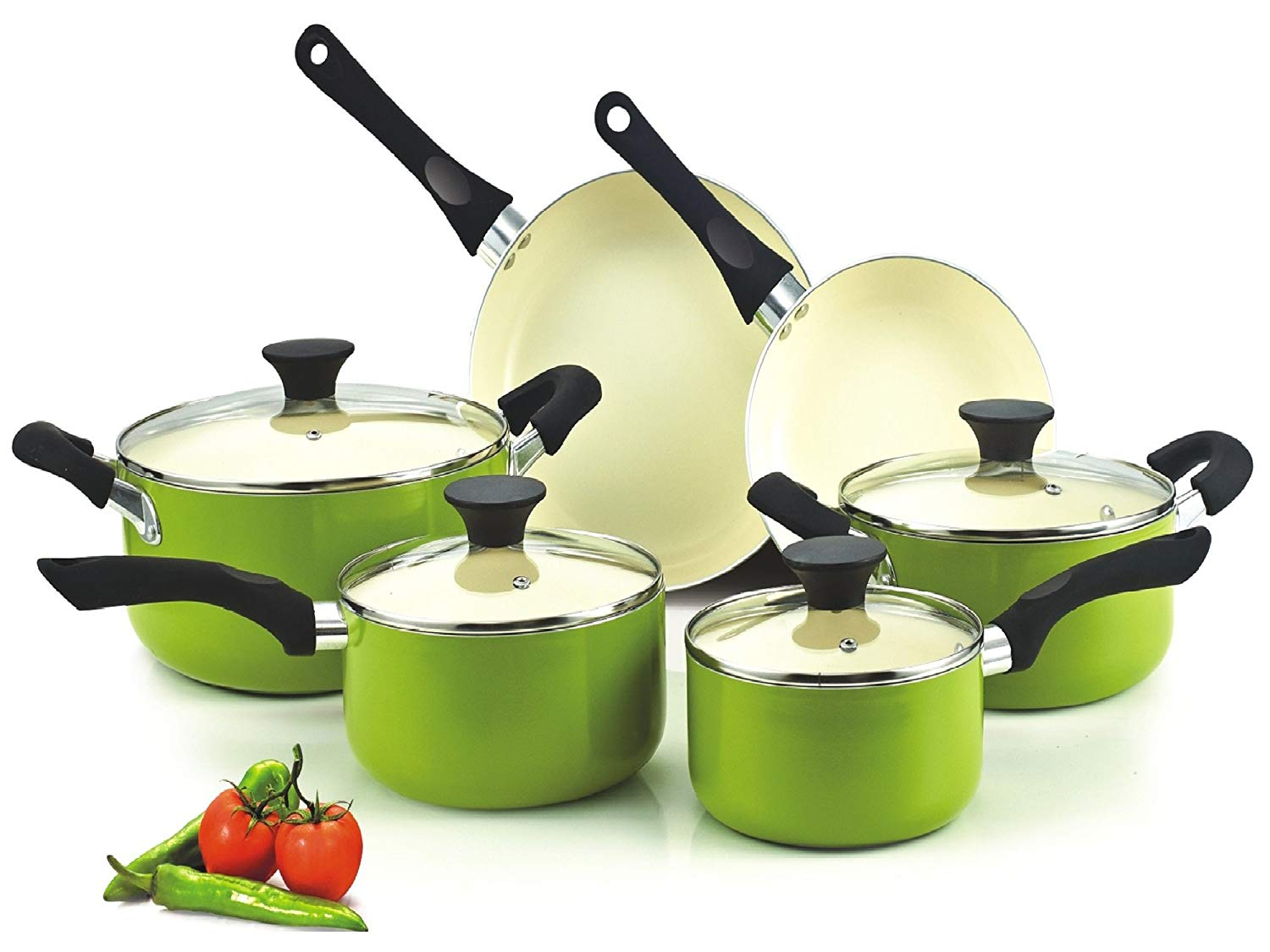 Cook N Home NC-00358 Nonstick Ceramic Cookware Set