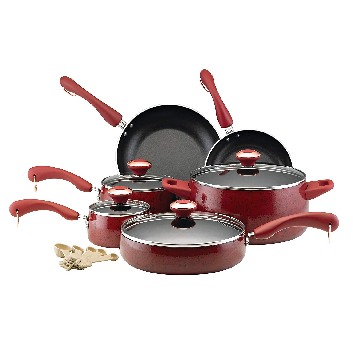 paula deen signature nonstick 15 piece porcelain cookware set