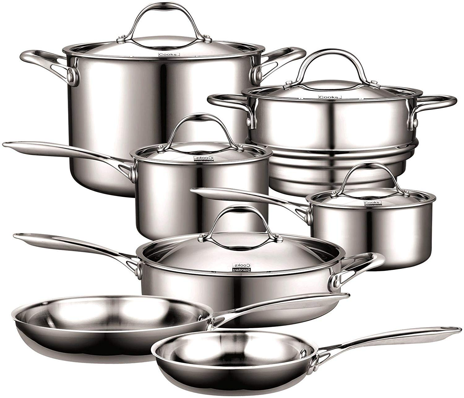 Cooks standard multi-ply clad stainless-steel cookware