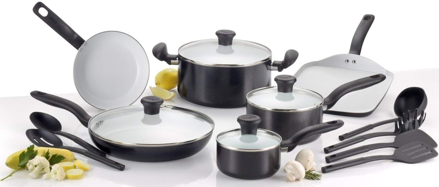 T-fal Initiatives Nonstick Ceramic Cookware Set