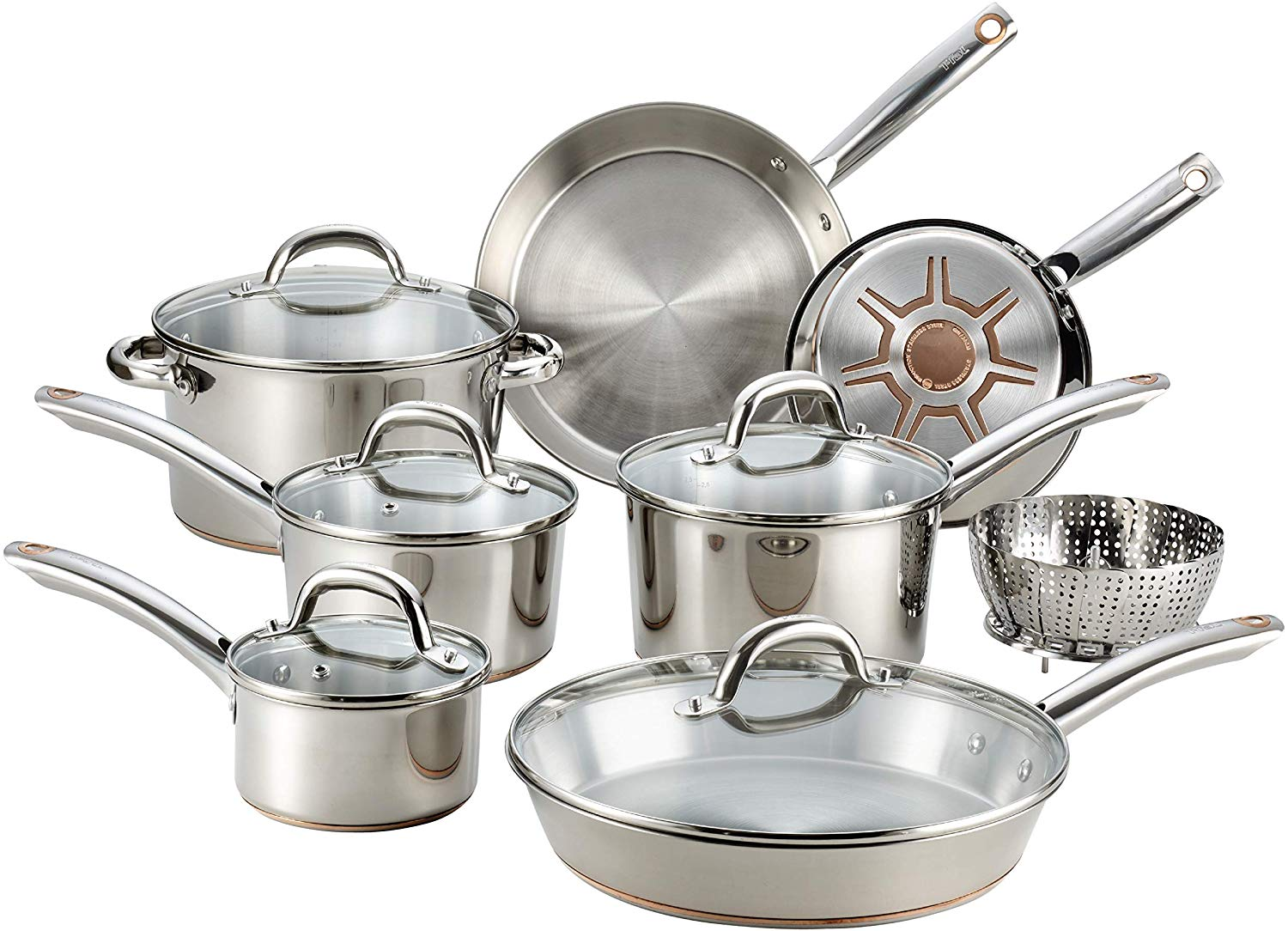 T-fal C836SD Ultimate Copper Bottom Cookware Set
