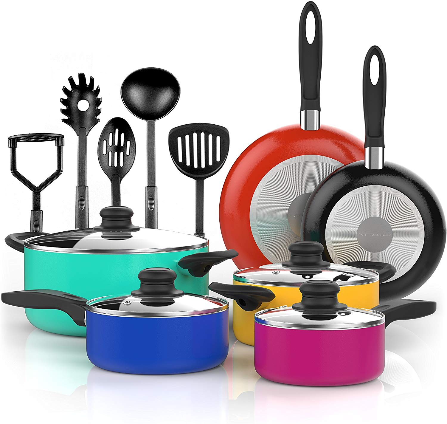 Vremi 15 Piece Nonstick Cookware Set